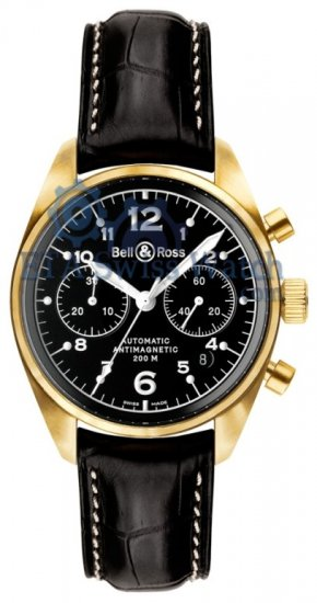 Bell and Ross Vintage 126 Gold Black