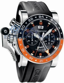 GrahamはChronofighterはビッグ日付のGMT 2OVASGMT.B01A.K10Bを特大